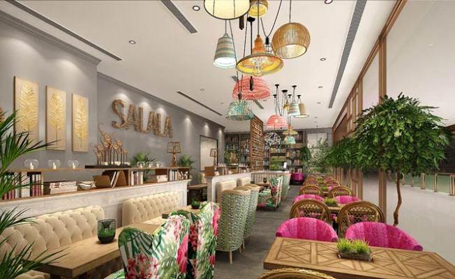 东南亚主题餐厅装修设计效果图
