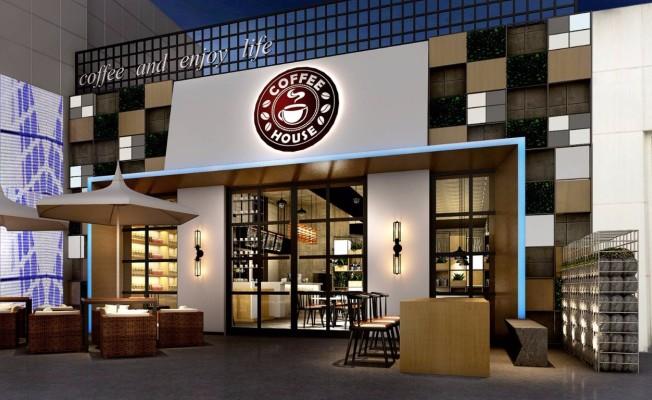 【咖啡厅装修设计】大拇指广场店
